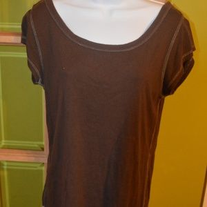 xl brown tee American Eagle